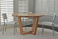 Hand Crafted Angled Leg Round Dining Table by Belak ...