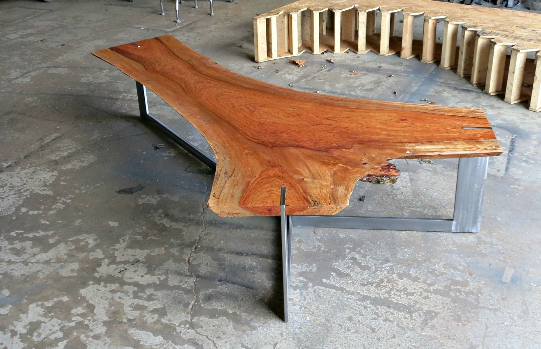 Live Edge Coffee Table Hand Crafted Jatoba Live Edge Coffee Table By Donald Mee