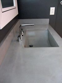 Hand Crafted Concrete Countertop And Integrated Sink by ...