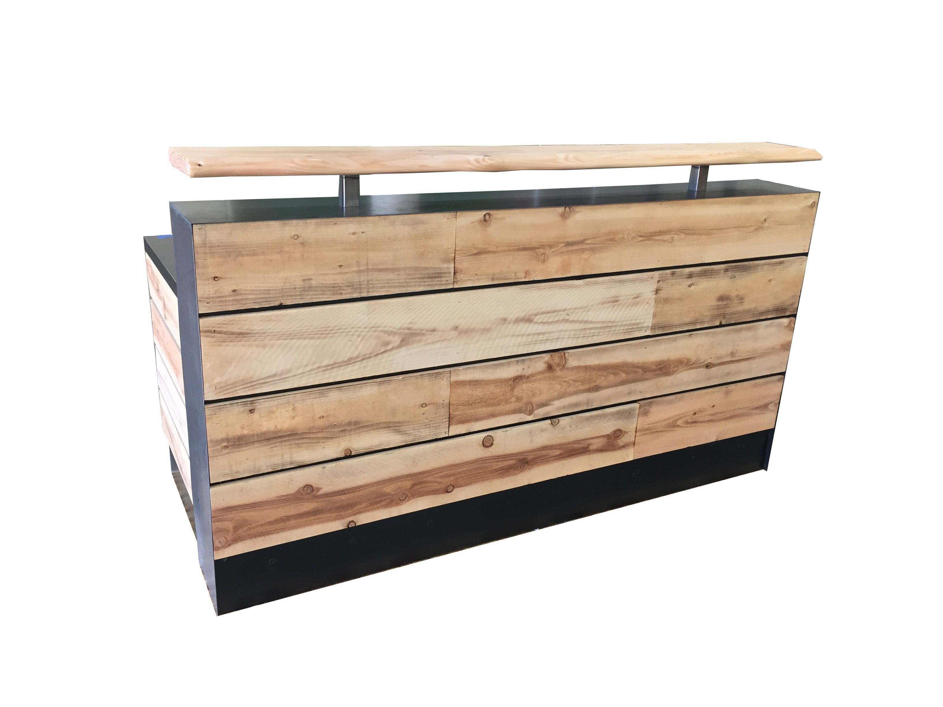 Cheap Desks For Sale Buy A Hand Made 17 Pine Reclaimed Wood Reception Desk Or