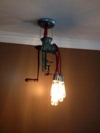 Custom Meat Grinder Light Fixture by Shamrock Salvage ...