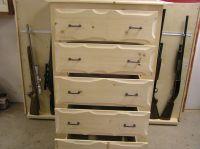 Handmade Rustic Pine Dresser With Gun Storage by New ...
