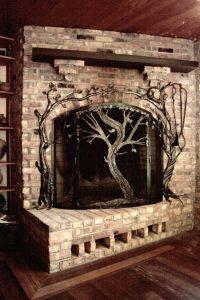 Metal Fireplace Screen. Best Modern Contemporary Fireplace ...