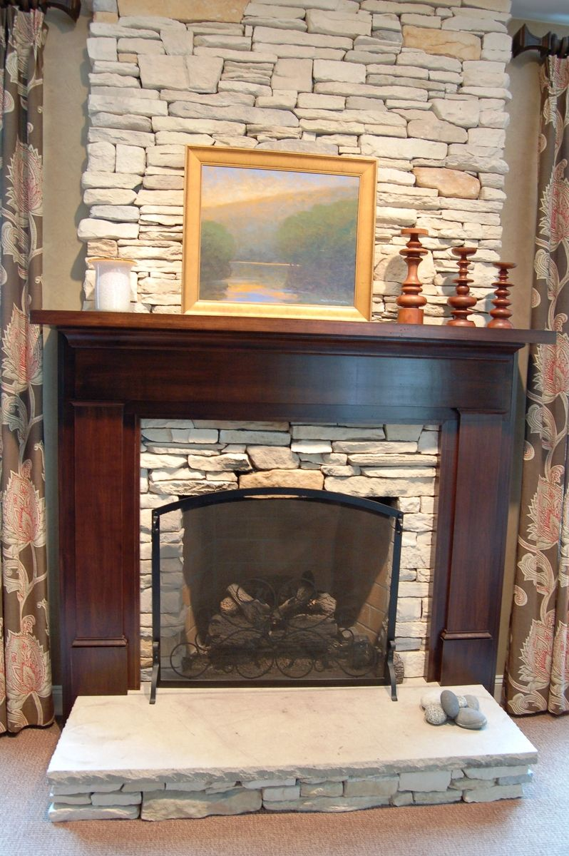 Mantel Height Custom Craftsman Fireplace Surround By Nh Accents Fine