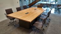 Hand Made Reclaimed Wood And Steel Industrial Conference ...