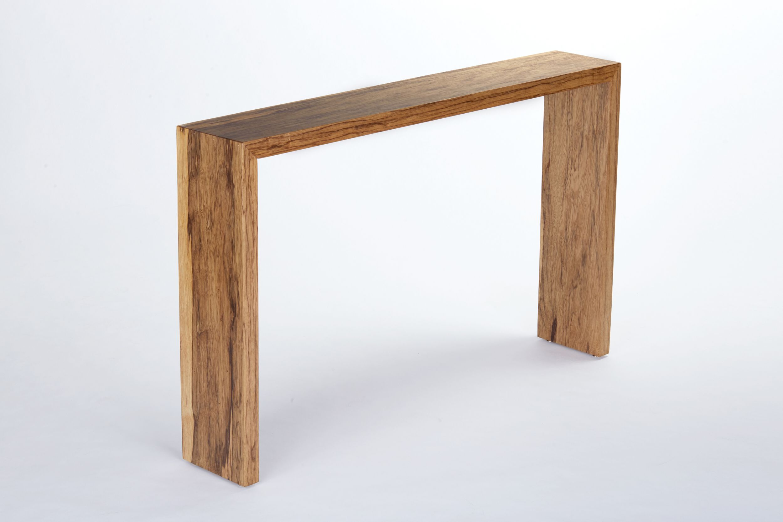 Narrow Corner Table Hand Crafted Waterfall Console Table Entryway Table