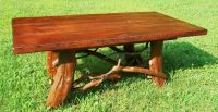 Hand Crafted Rustic Coffee Table With Mountain Laurel Base ...