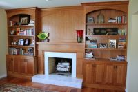 Hand Crafted Built-In Bookcases - Fireplace Surround by ...