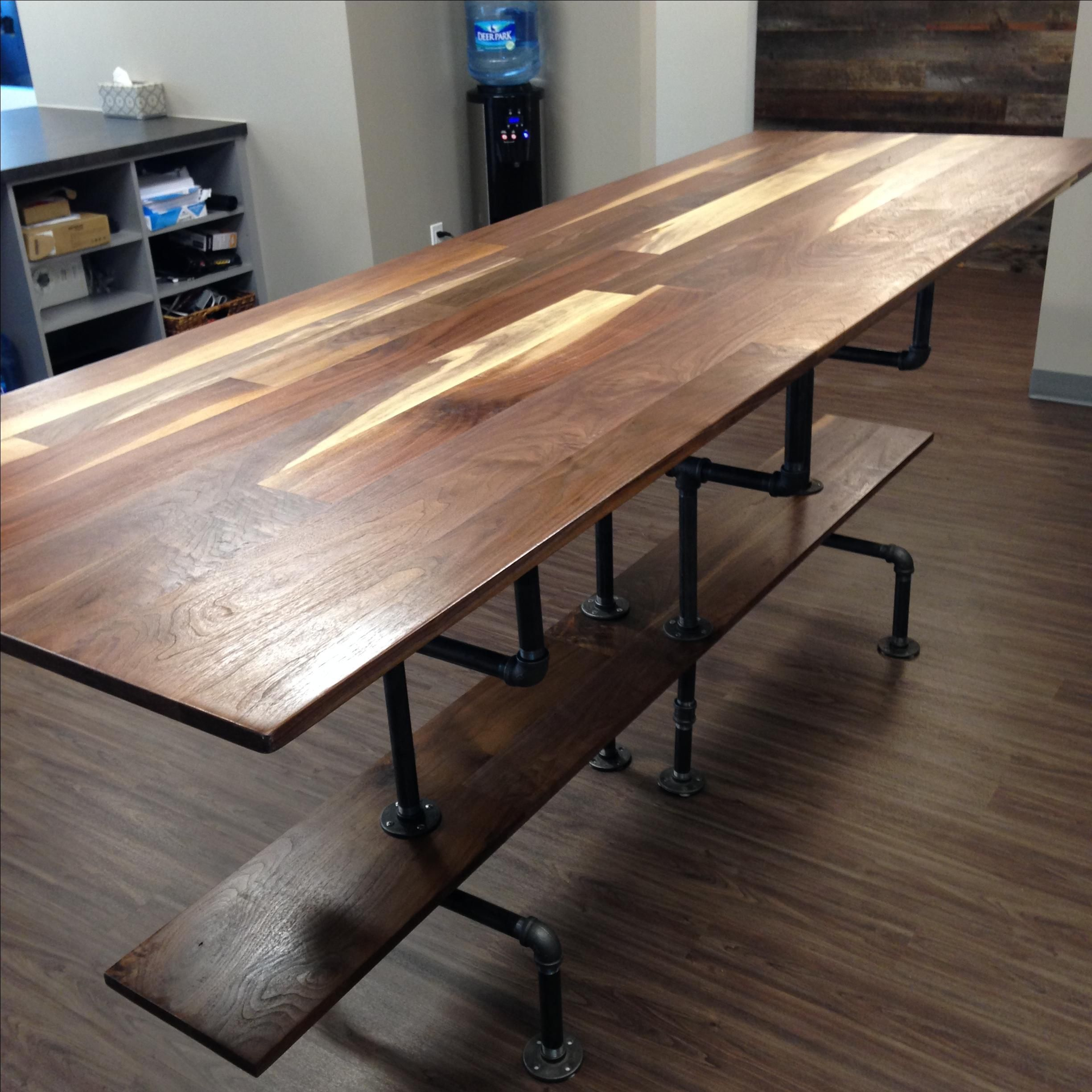 3 X 8 Table Hand Crafted Solid Sappy And Figured Walnut Conference