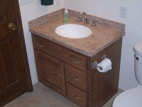 Handmade Custom Oak Bathroom Vanity And Linen Cabinet by ...