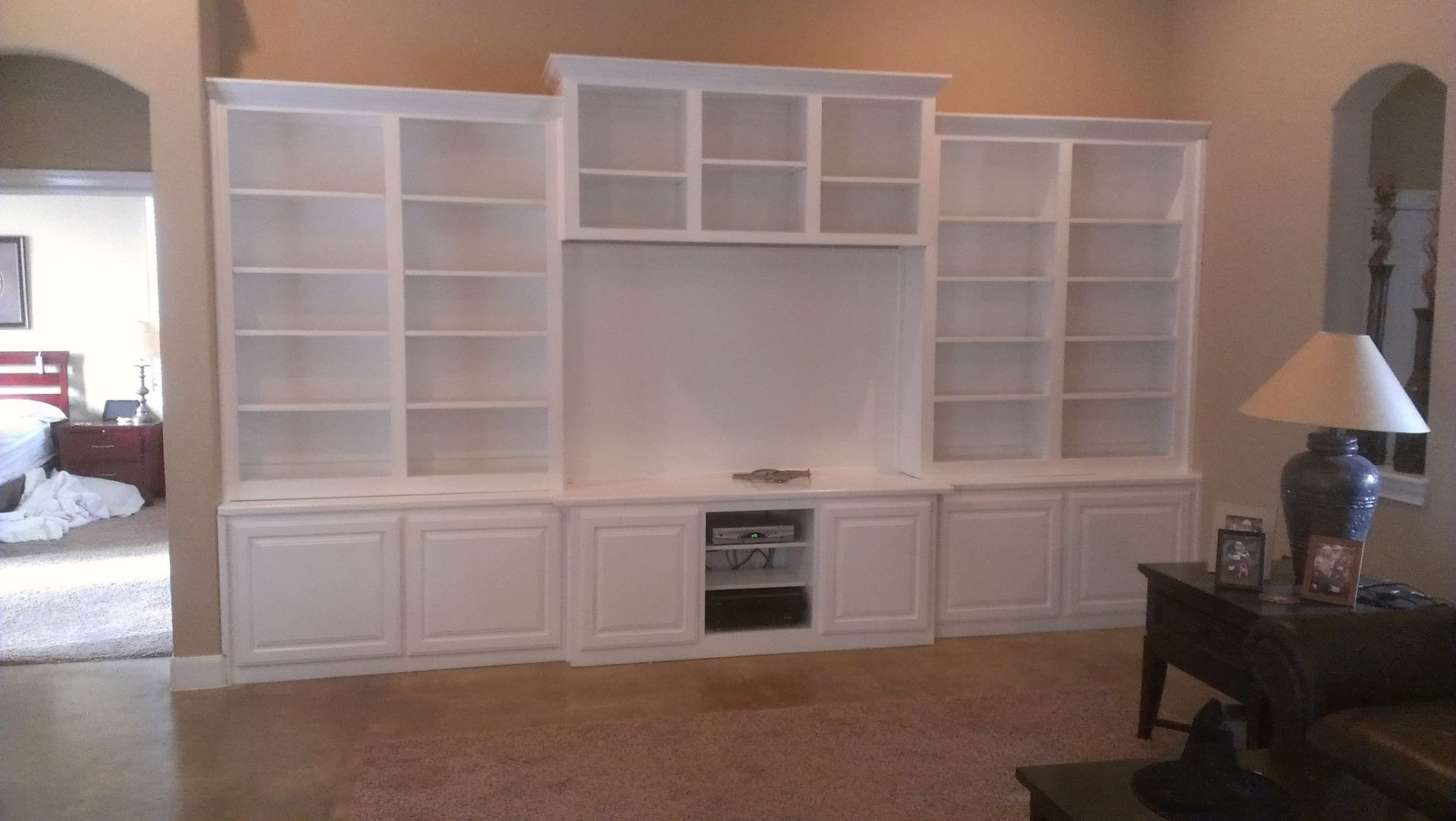 White Entertainment Wall Unit Hand Made White Wall Unit By Top Quality Cabinets