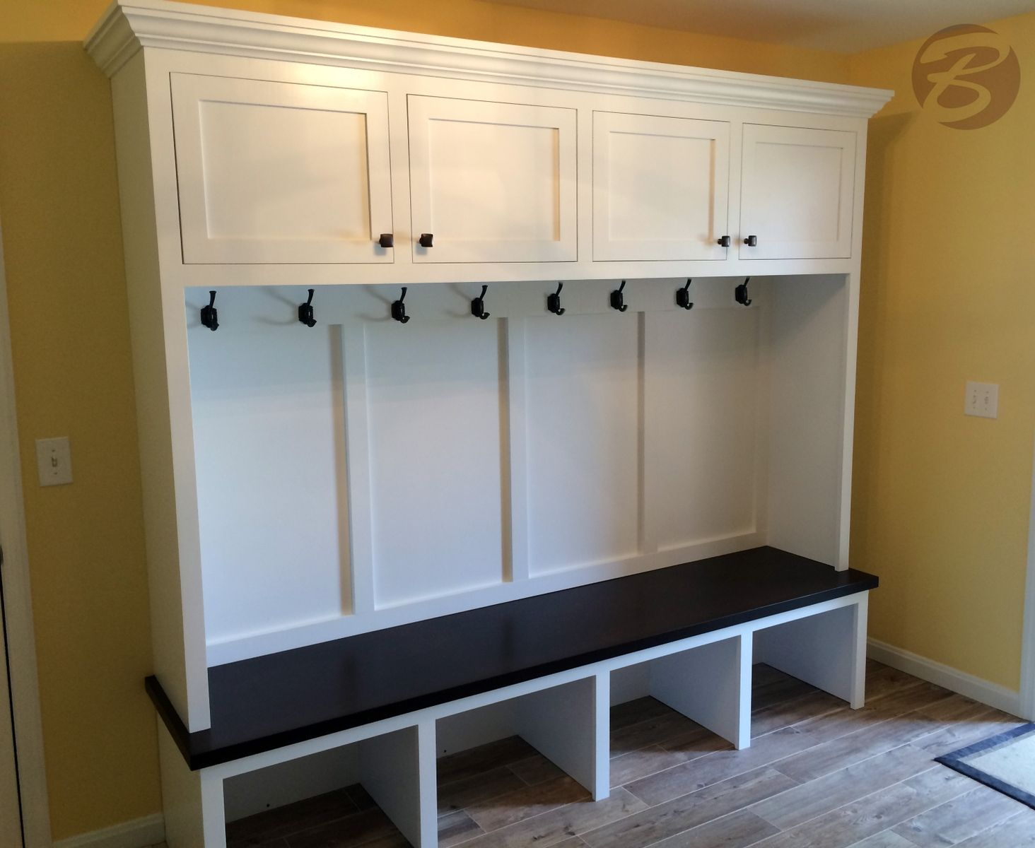 Ikea Coat Hanger Handmade Mudroom / Entryway Bench And Storage By
