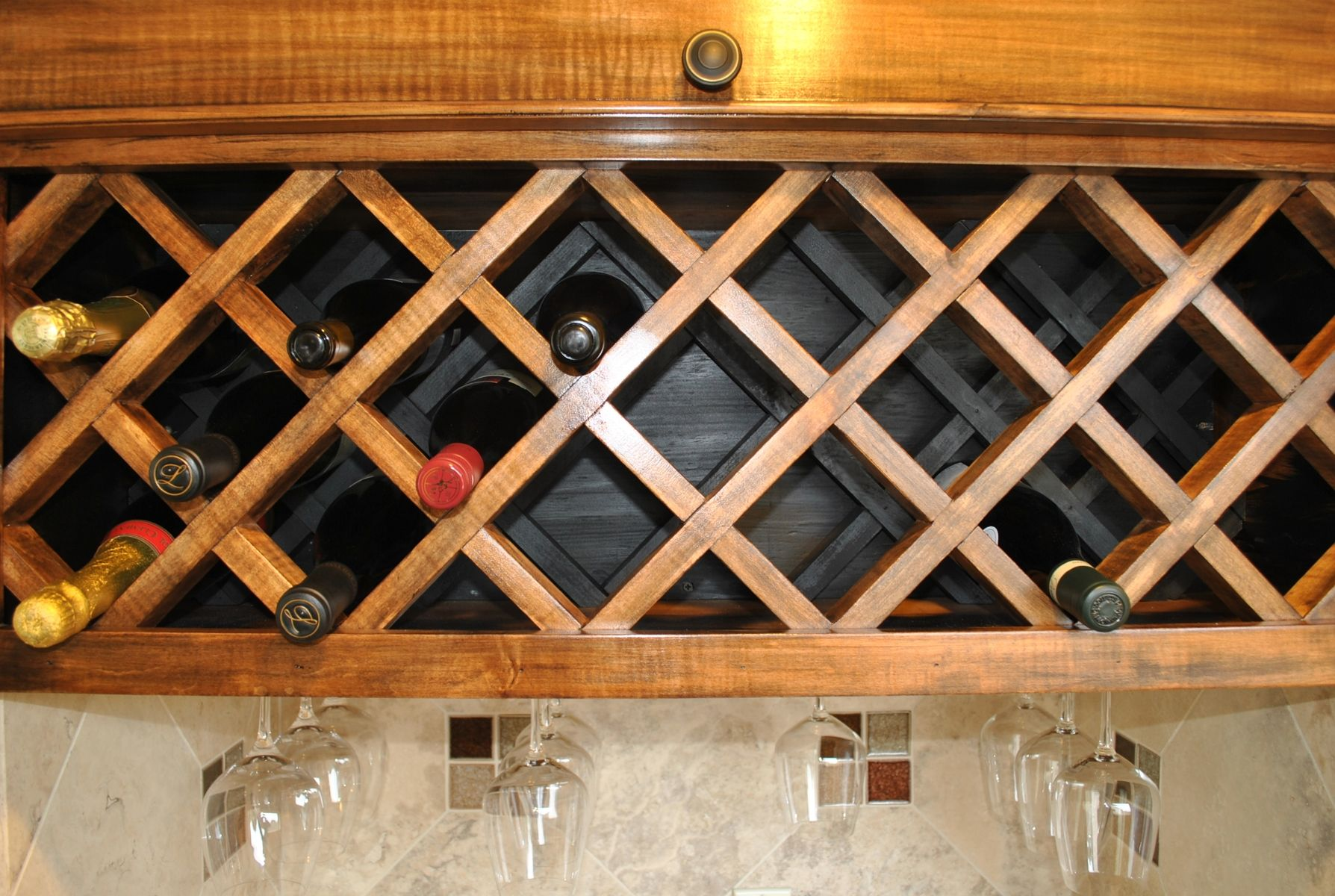 Wine Rack Built Into Wall Hand Crafted Custom Wine Rack By Noble Brothers Custom