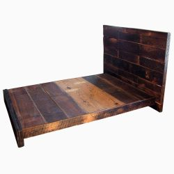 Buy a Hand Made Asian Style Low Platform Bed From Reclaimed Wood