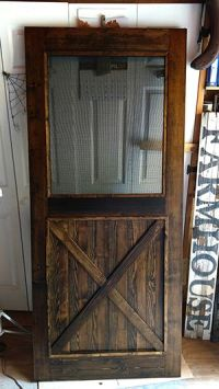 Hand Crafted Custom Made Re-Milled Barn Wood Screen Door ...