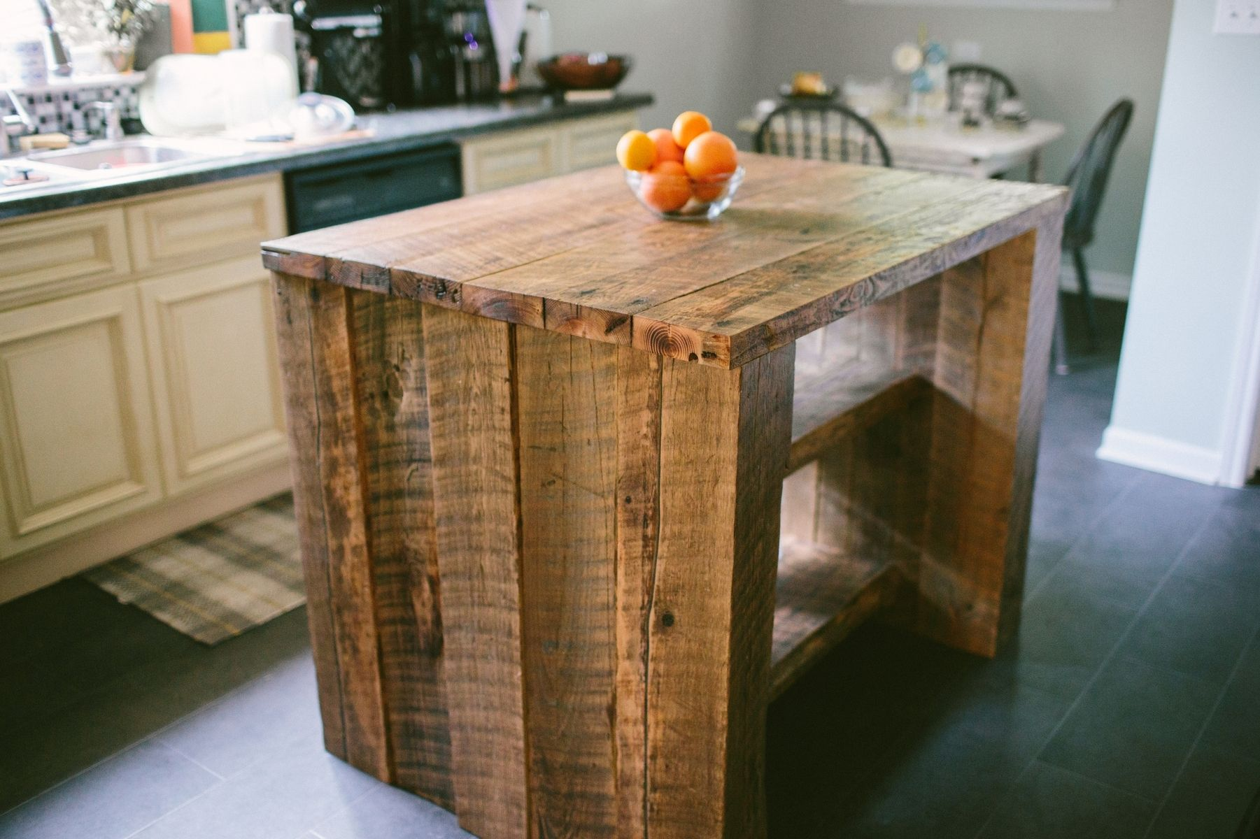 Old Barn Wood Kitchen Island Custom Reclaimed Kitchen Island By Old North Designs