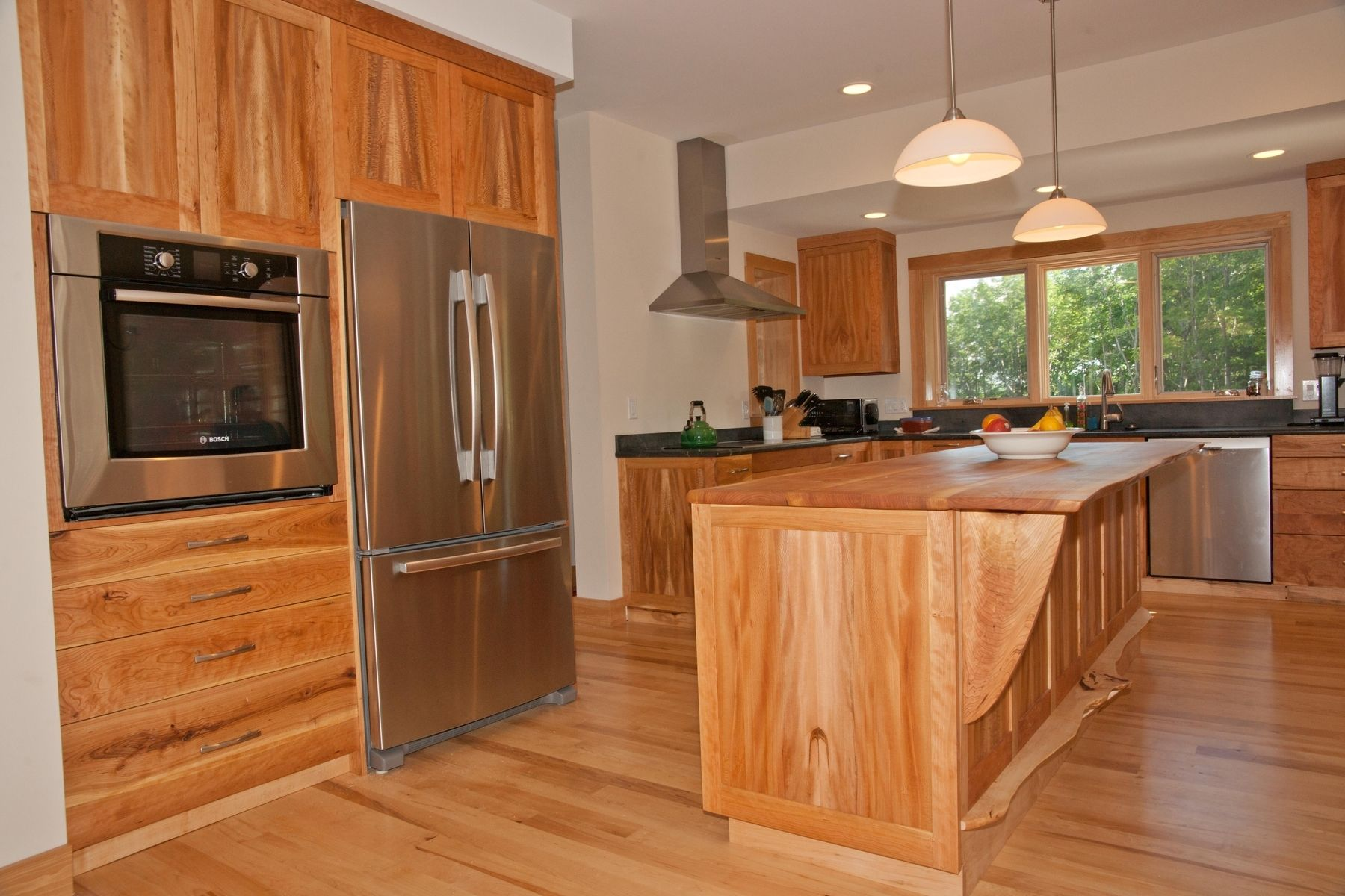 Custom Made Cabinets Handmade Cherry American Lacewood And Maple Kitchen