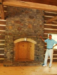 "Handmade 48"" Rumford Fireplace In Hermann Mo by Stone ..."
