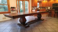 Custom Extendable 9ft. - 12ft. Hand Crafted Dining Table ...