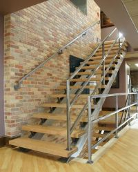 Hand Crafted Modern Steel And Wood Staircase by Fast Lane ...