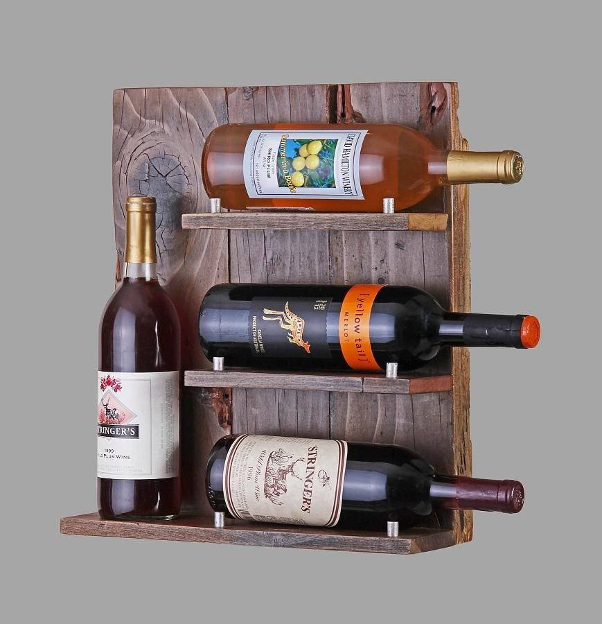 Buy A Custom Reclaimed Wood Wine Rack Made To Order From