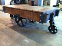 Custom Warehouse Cart Coffee Tables by Iron Hammer Designs ...