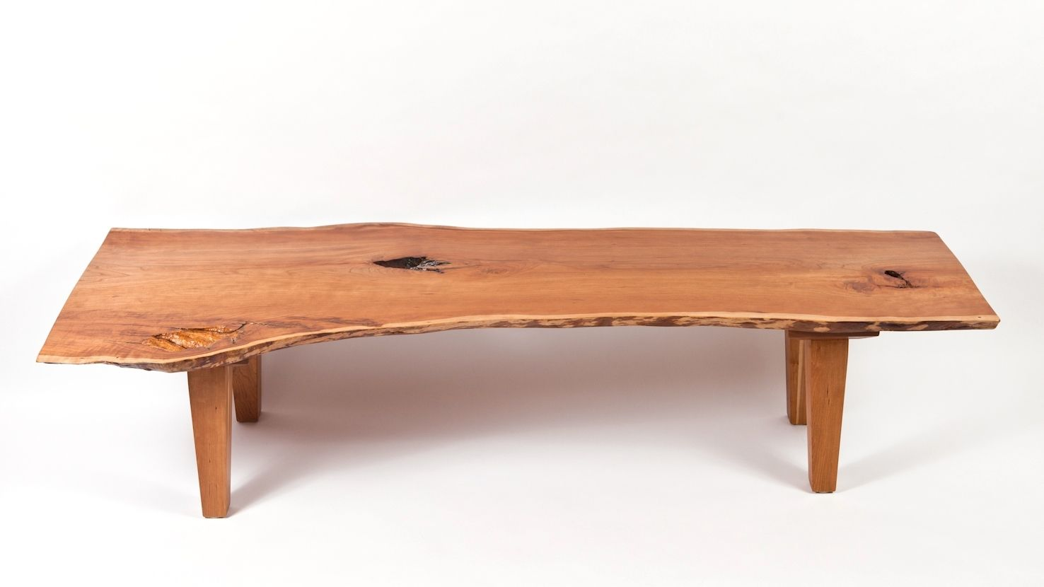 Live Edge Coffee Table Custom Made Live Edge Vermont Cherry Coffee Table By