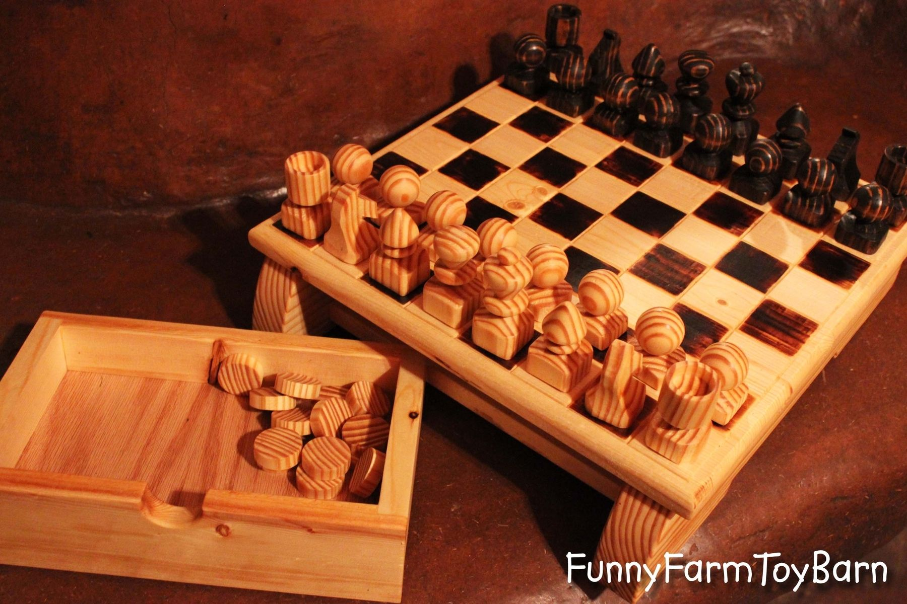 Personalized Chess Set Gift Custom Wooden Chess Set By That Family Shop Custommade