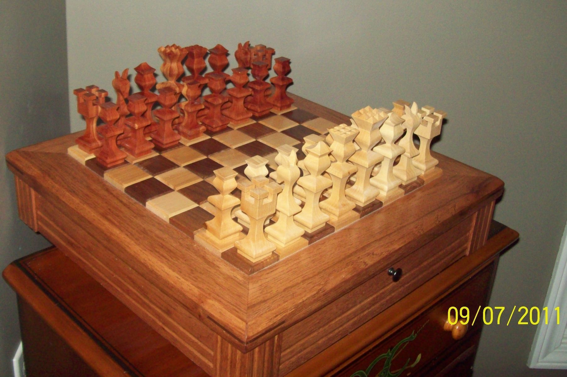 Personalized Chess Set Gift Hand Made Chess Board With Pieces By 4bz Customs
