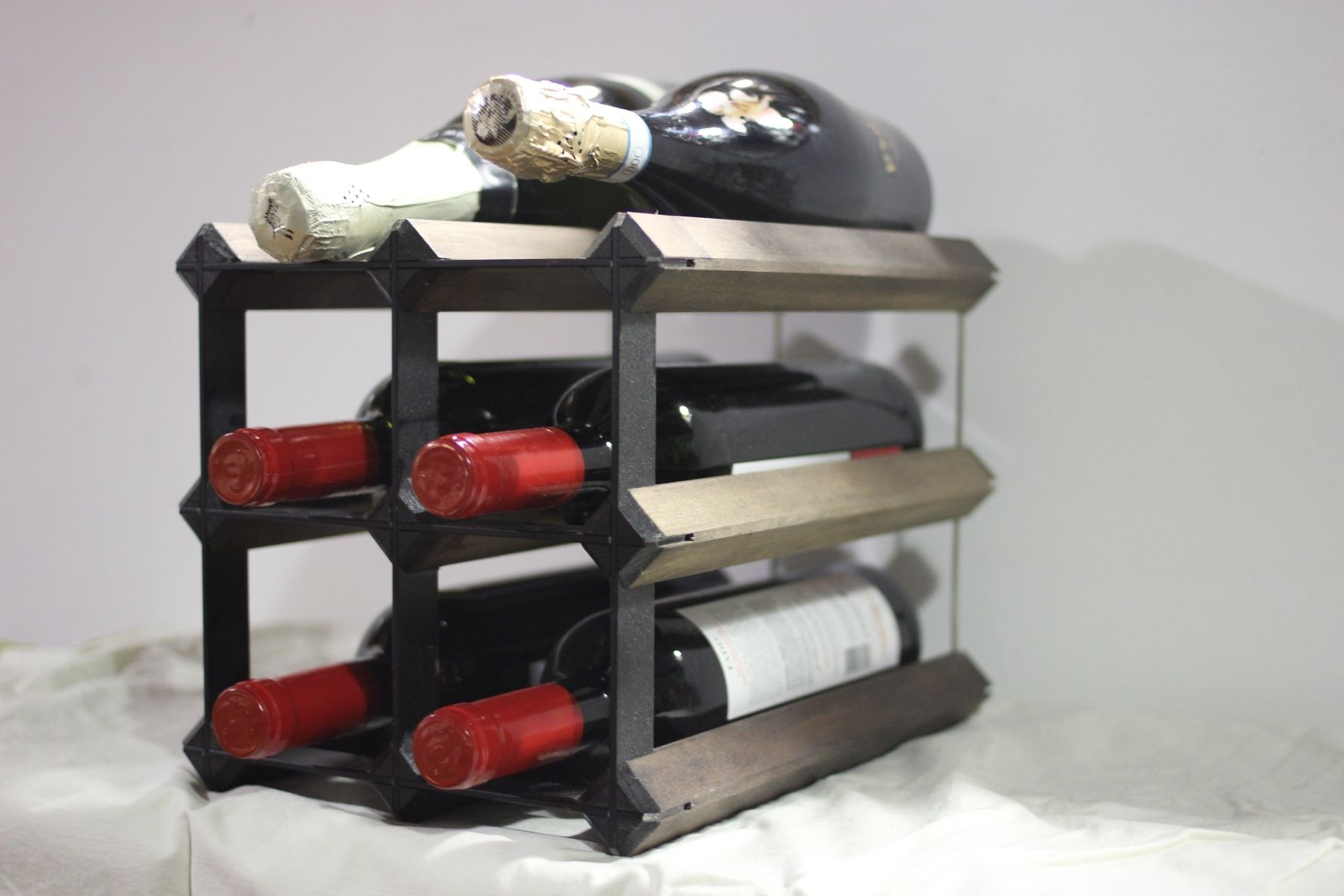 Countertop Wine Glass Rack Handmade Countertop Wine Rack By Wine Products Inc