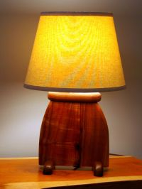 Hand Made Hawaiian Koa Wood Art Deco Slab Table Lamp by ...
