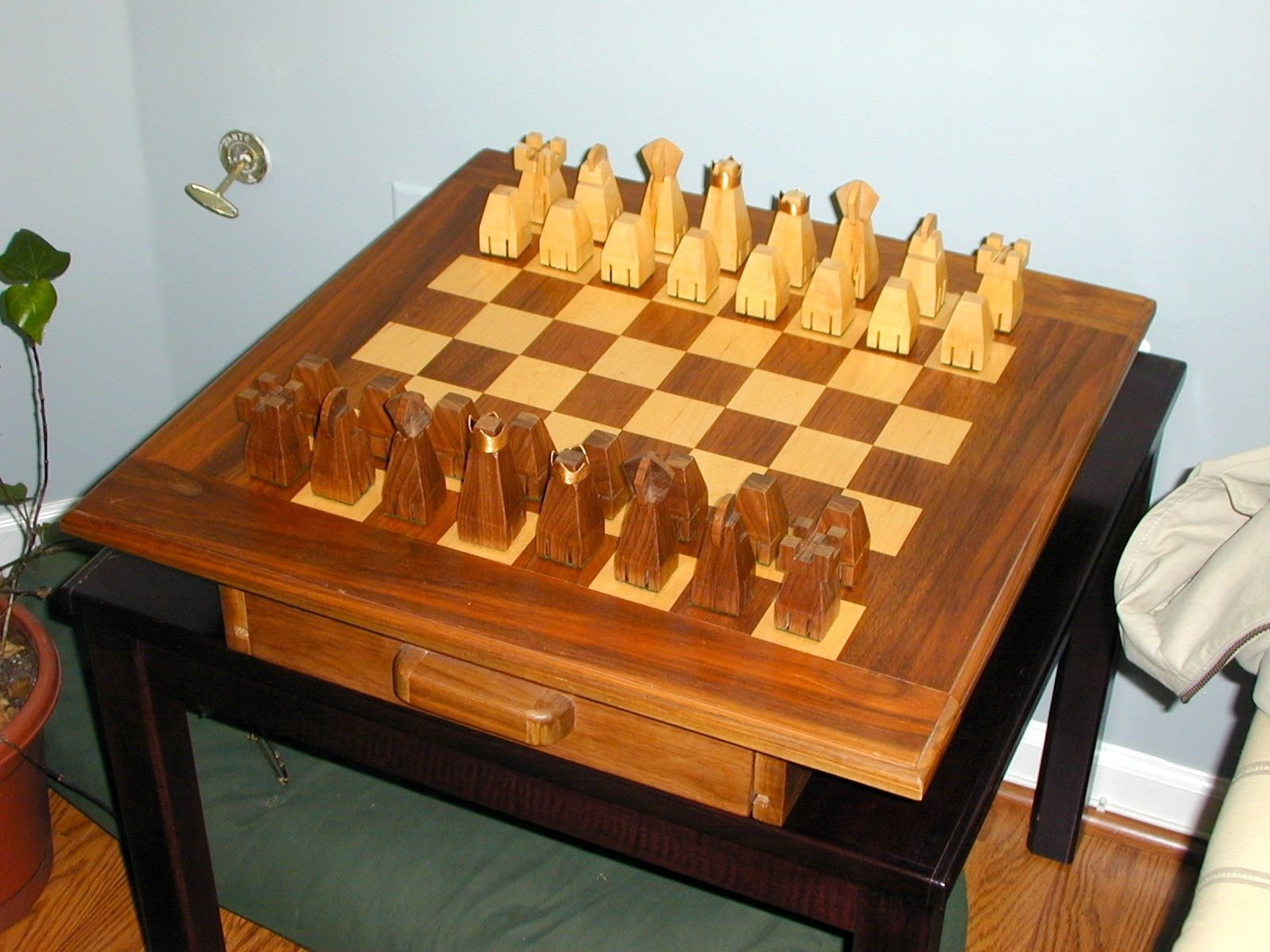 Personalized Chess Set Gift Handmade Chess Set And Board By The Plane Edge Llc