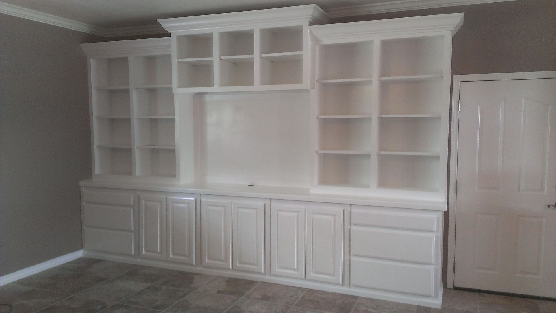 White Entertainment Wall Unit Hand Crafted Large White Wall Unit By Top Quality Cabinets