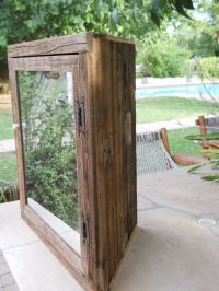 Hand Made Wooden Corner Medicine Cabinet With Mirror by ...