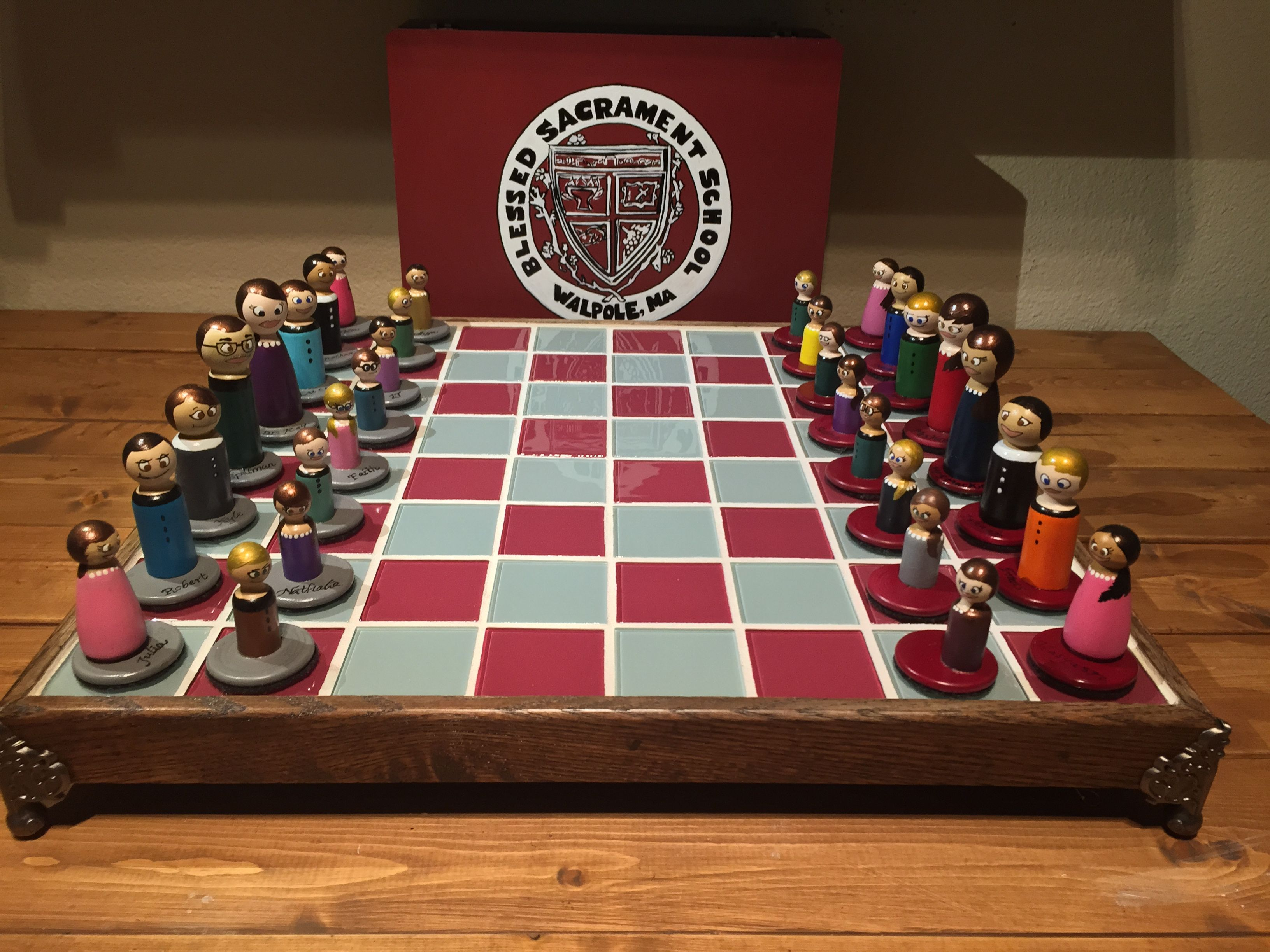 Personalized Chess Set Gift Hand Made School Room Chess By Custom Chess And Handwork By