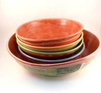 Buy a Custom Made Handmade Art Bowls Pasta Bowl Set With ...