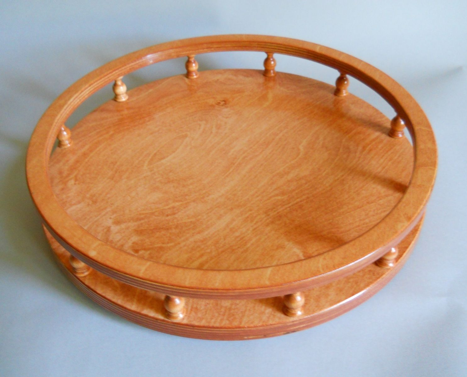 Lazy Susan Table Hand Crafted Lazy Susan With Finials Tray Counter Or