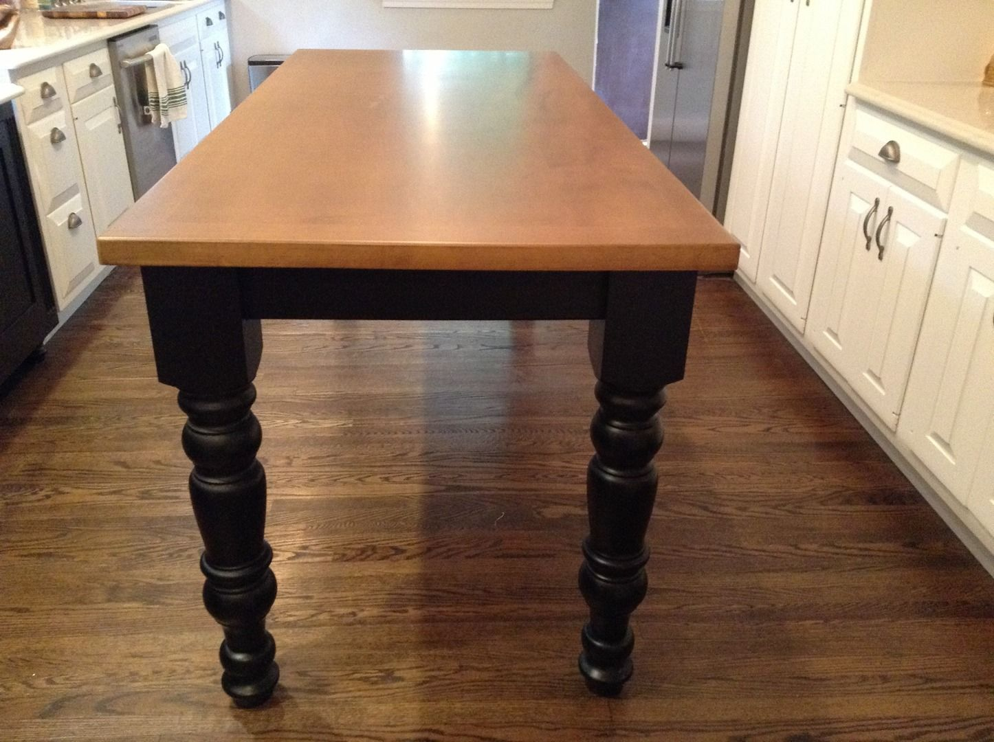 Hidden Kitchen Table Buy A Custom Kitchen Dining Table With Hidden Leg