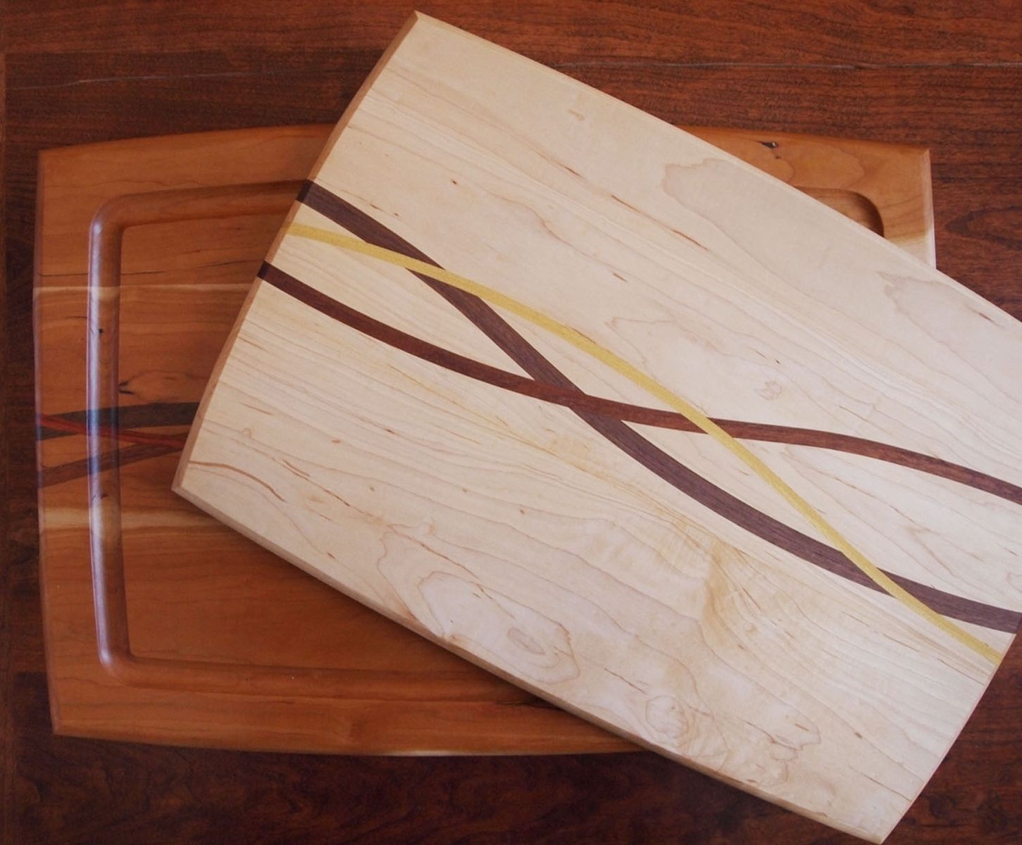 Unusual Cutting Boards Hand Made Inlayed Wood Cutting Boards By Curt Lambert