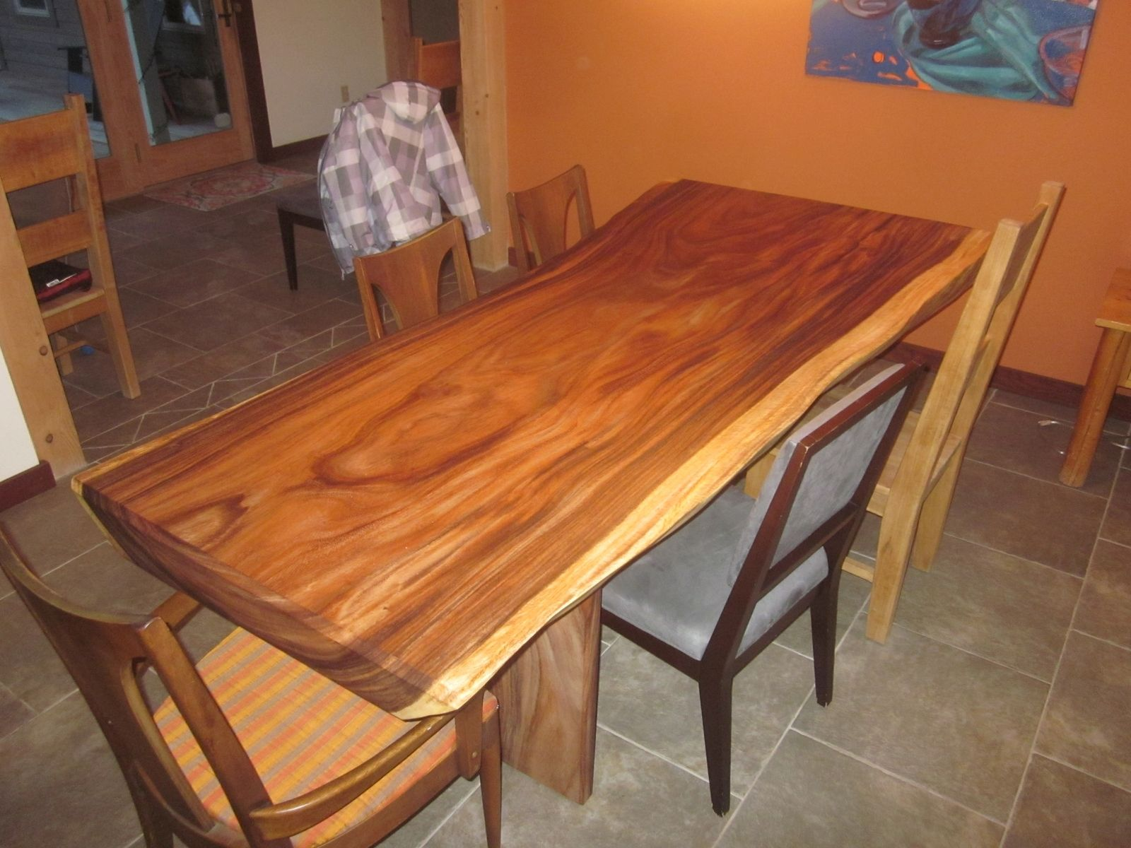 Acacia Dining Table Custom Acacia Slab Dining Table By Clean Air Woodworks