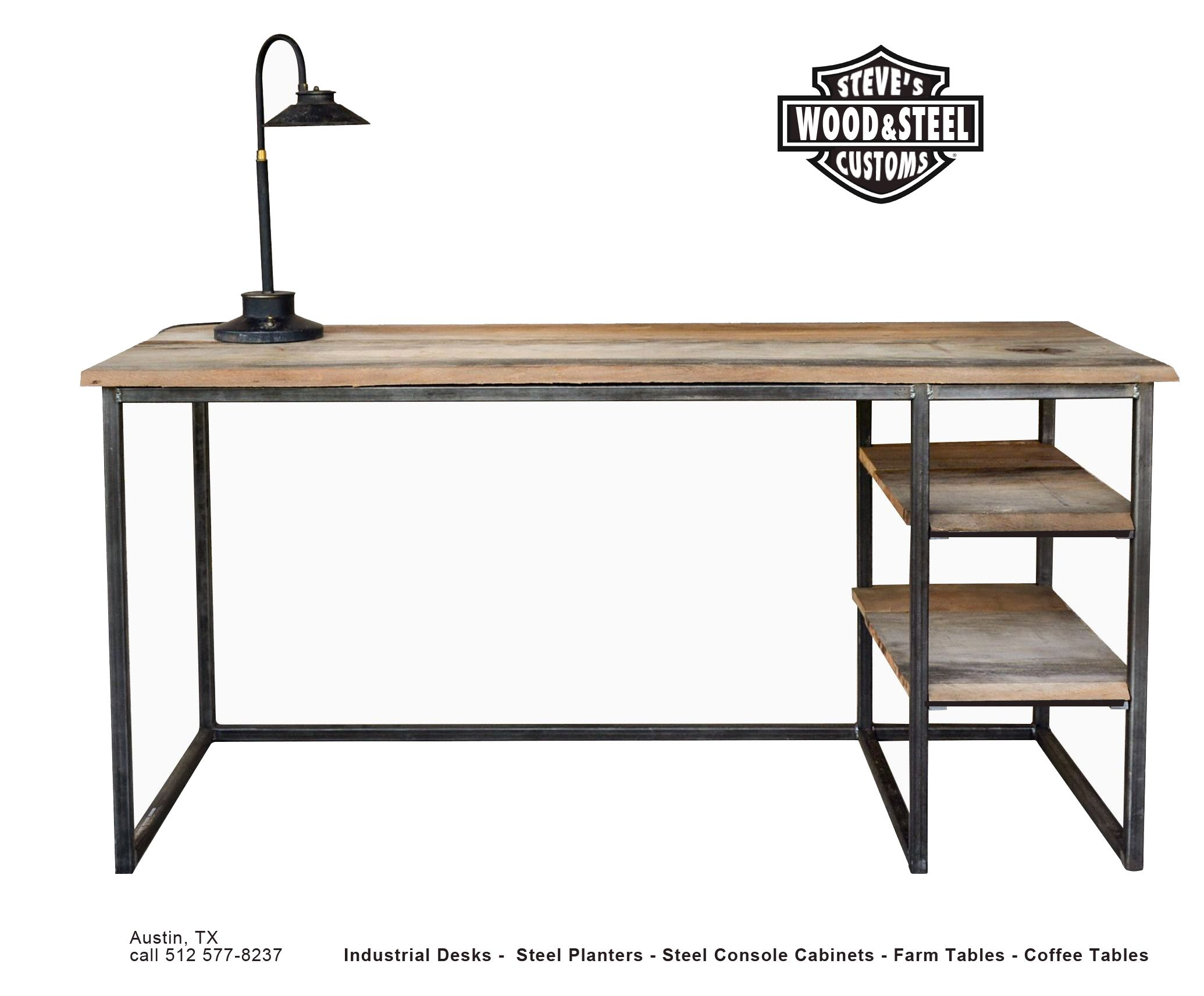 Customs Desk Buy A Custom Made Industrial Reclaimed Wood Desk Made To
