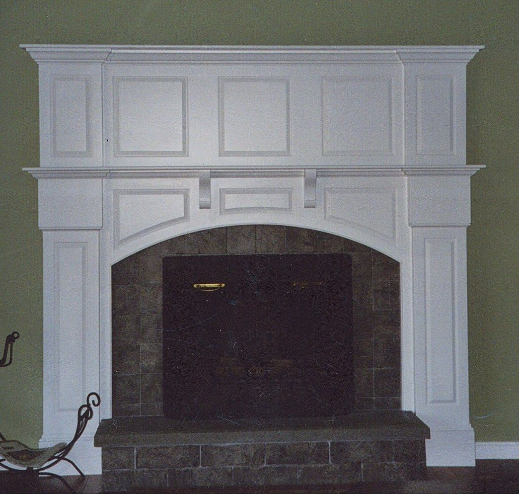 Fireplace Mantel White Custom White Fireplace Mantel By Broughton Woodworks