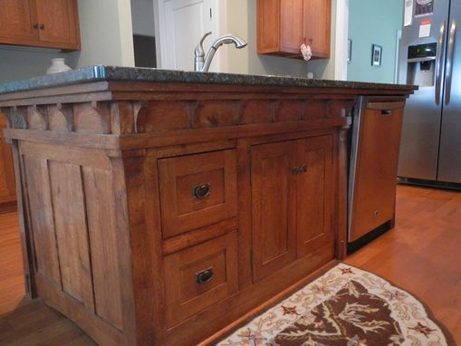 Big Island Kitchen Design Handmade Arts And Crafts Style Kitchen Island By Paul's