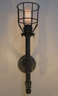 Handmade Wall Sconce: Black Malleable Iron - Industrial ...