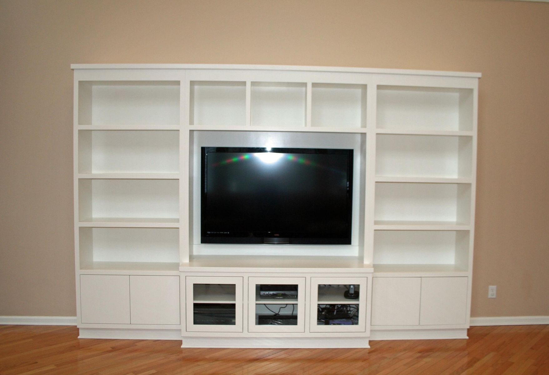 Wall Unit Modern Custom Made Modern Painted Entertainment Wall Unit By Two
