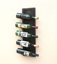 Buy Hand Made Wood Wall Wine Rack-Wall Mounted Wine Rack ...