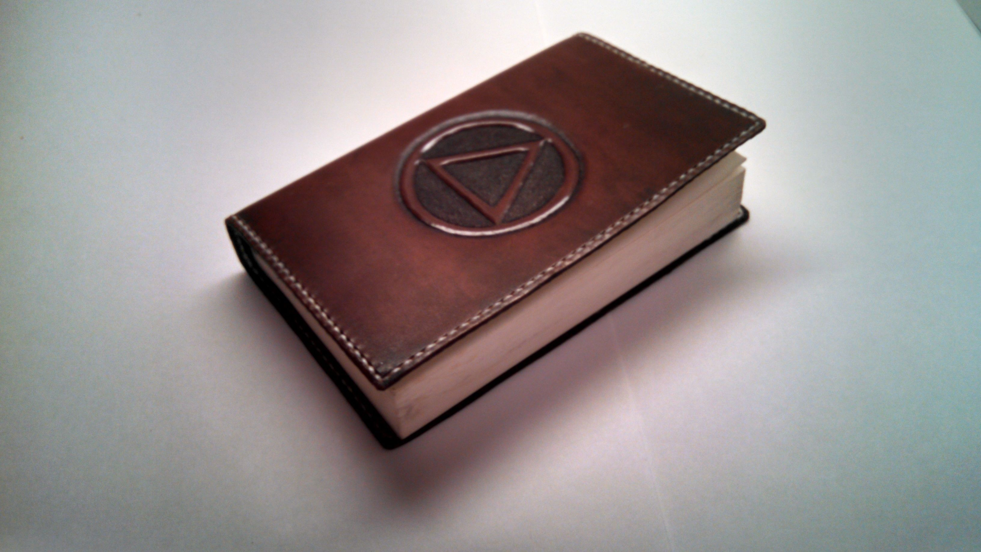 Big W Book Covers Hand Crafted Leather Cover For Soft Back Alcoholics