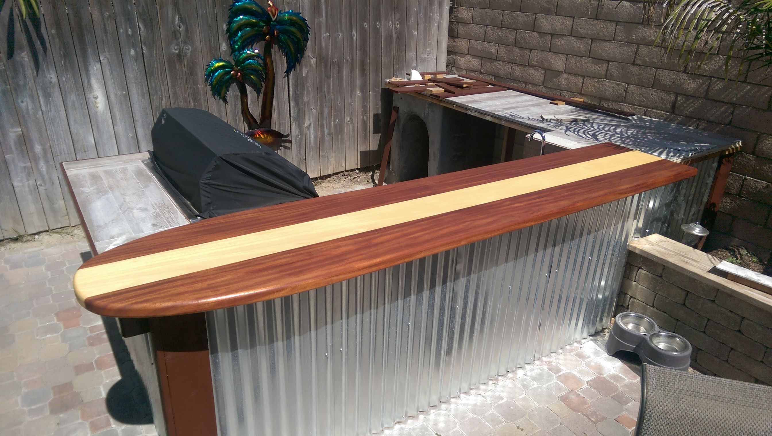Custom Made Classic Surfboard Bar Top By Harbour Millwork