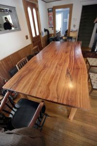 Custom Made Live Edge Cherry Kitchen Table by Wooden ...