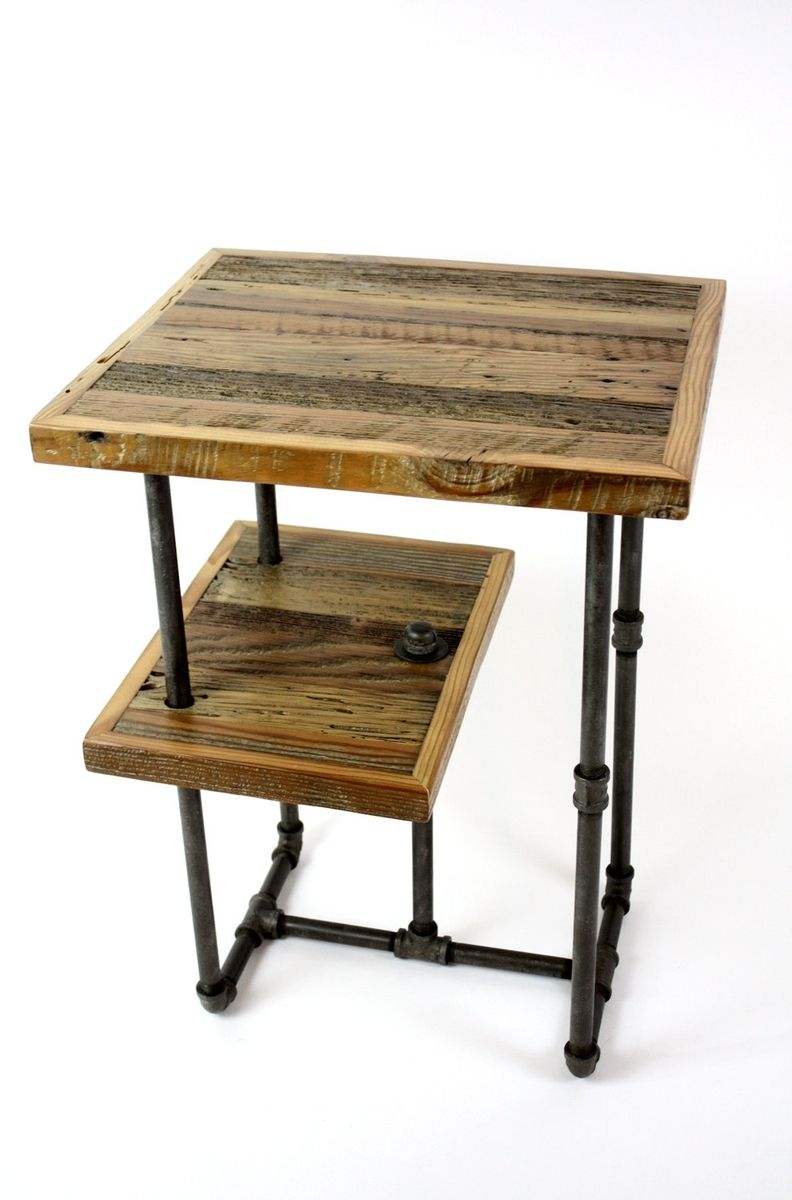 Industrieel Sidetable Hand Crafted 'galvy' Industrial Side Tables // Reclaimed
